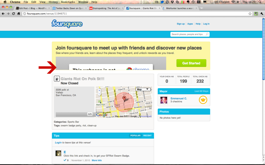 Foursquare without Facebook